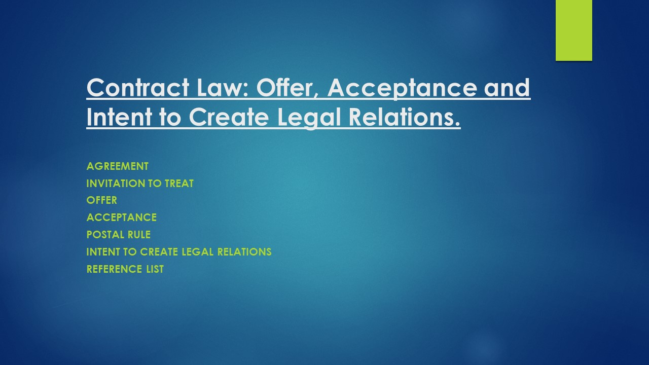 examples of invitation to treat in contract law